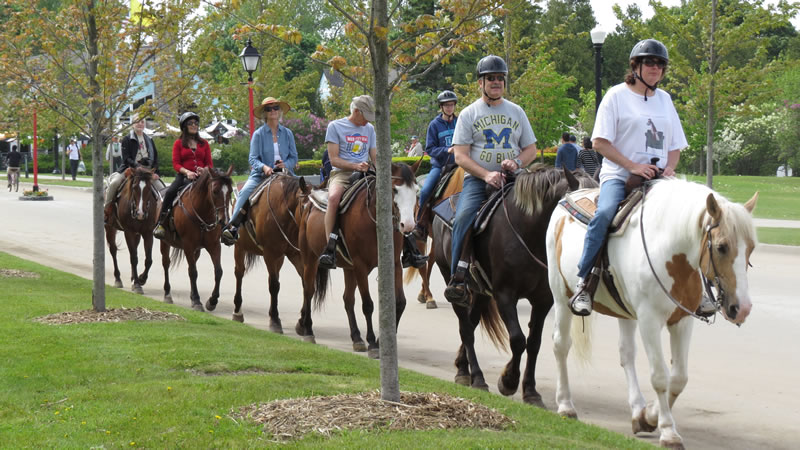 Horseback riders at Jack's Riding Stable
