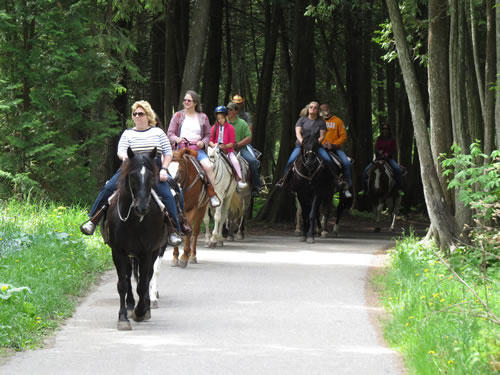 Go Riding at Jack's Livery Stable on historic Mackinac
